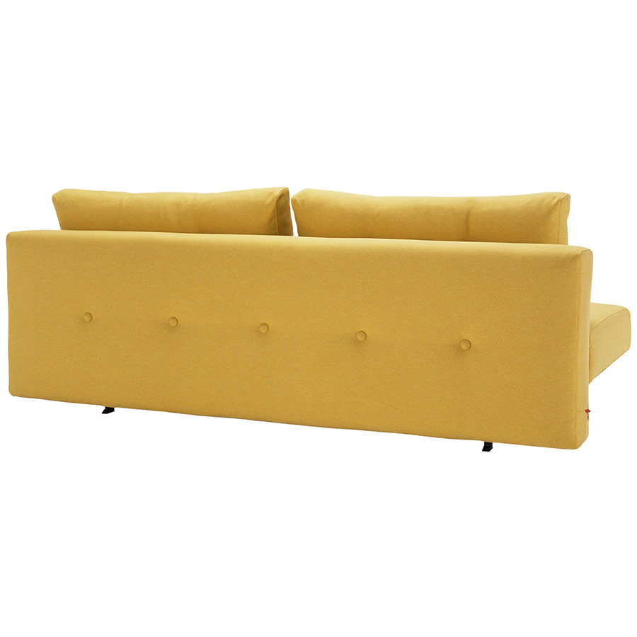 Recast Sleeper Sofa in Yellow - Tufted Back by Innovation