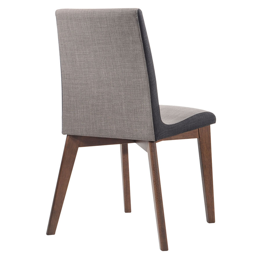 Redding Modern Dining Chair in Two-Tone Gray - Back View