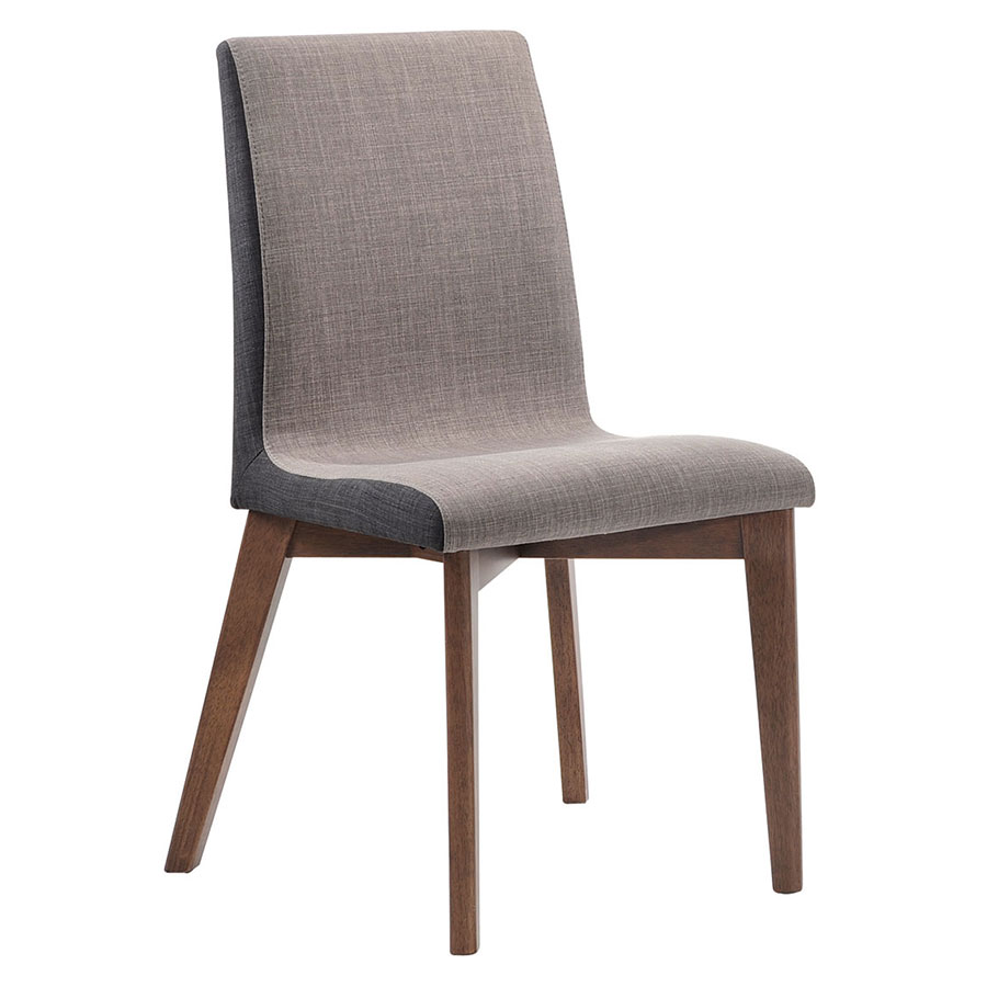 Redding Modern Dining Chair in Two-Tone Gray