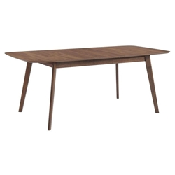 Redding Modern Walnut Extension Dining Table