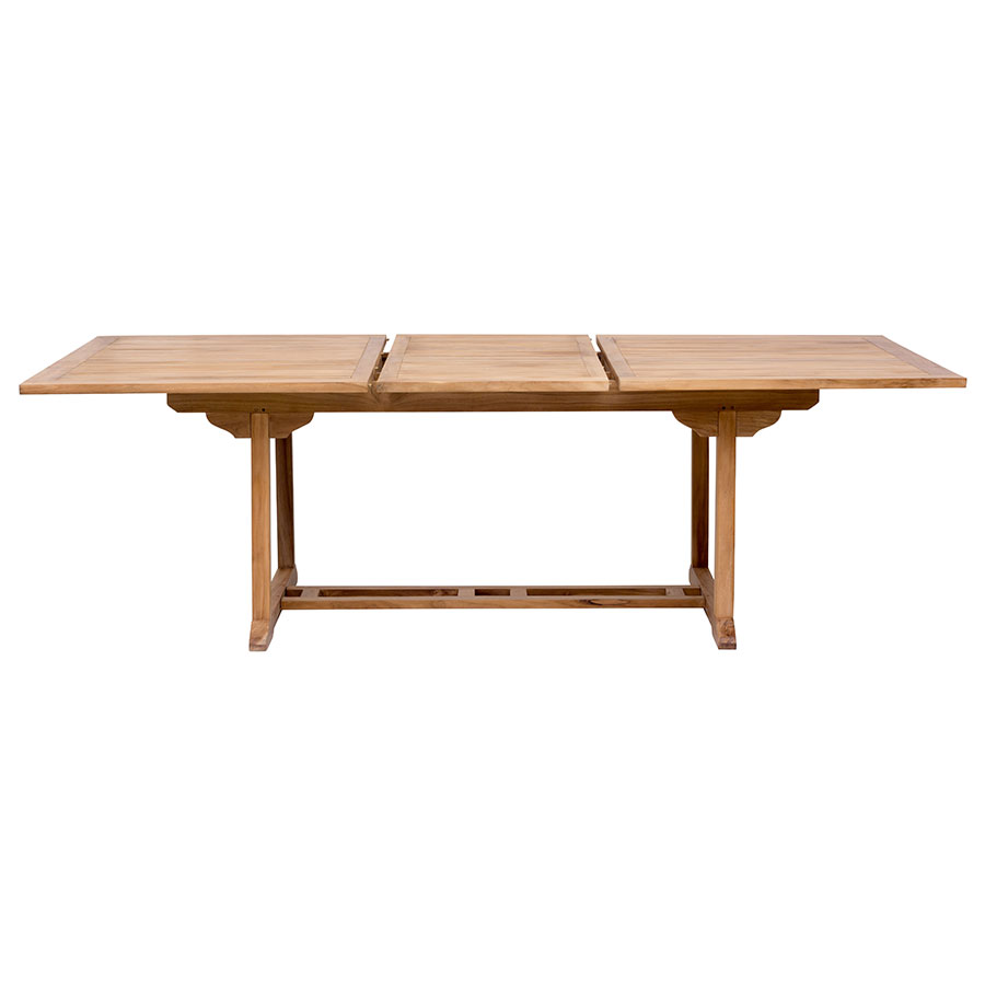Reilly Modern Craftsman Teak Outdoor Extension Dining Table