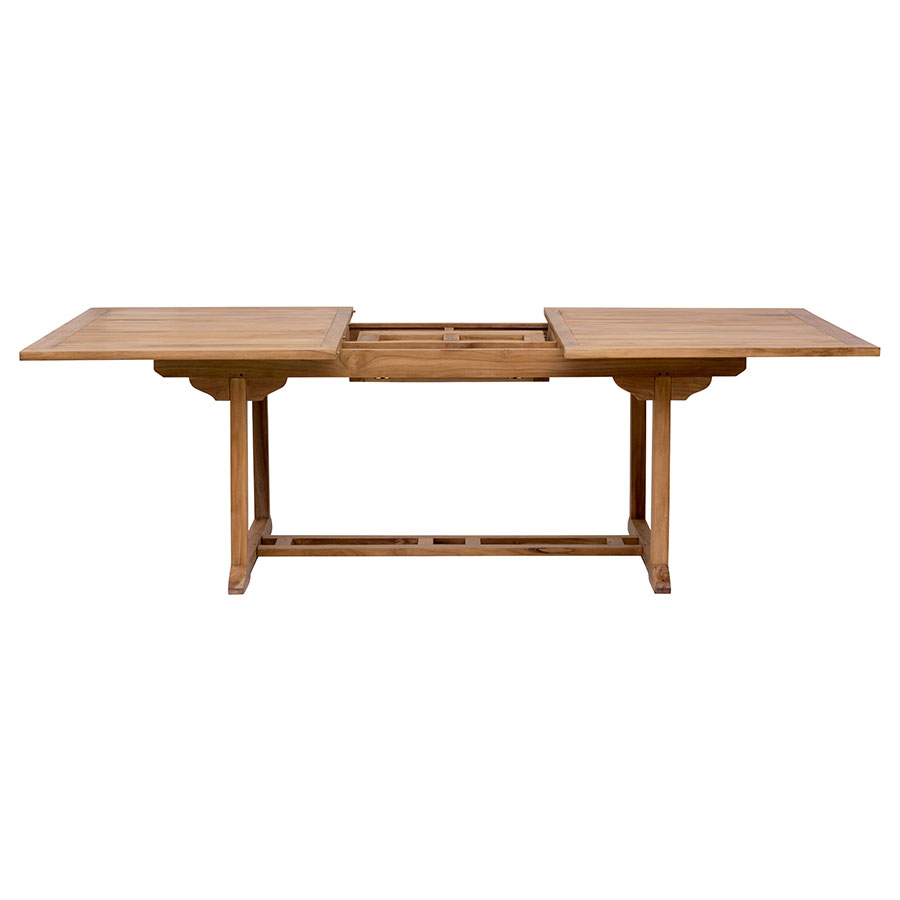 Reilly Contemporary Craftsman Teak Outdoor Extension Dining Table