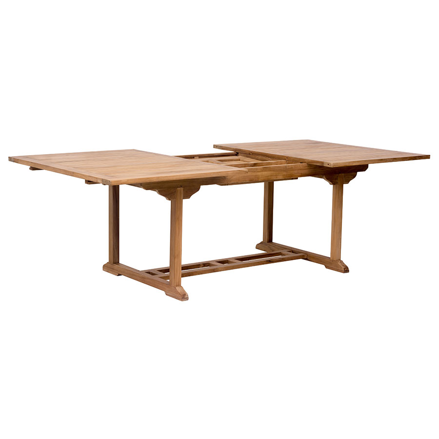Reilly Modern Teak Outdoor Extension Dining Table