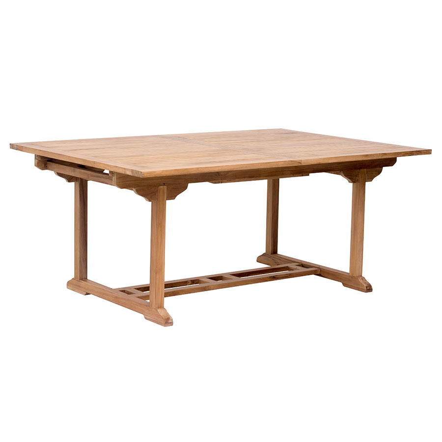 Reilly Contemporary Teak Outdoor Extension Dining Table