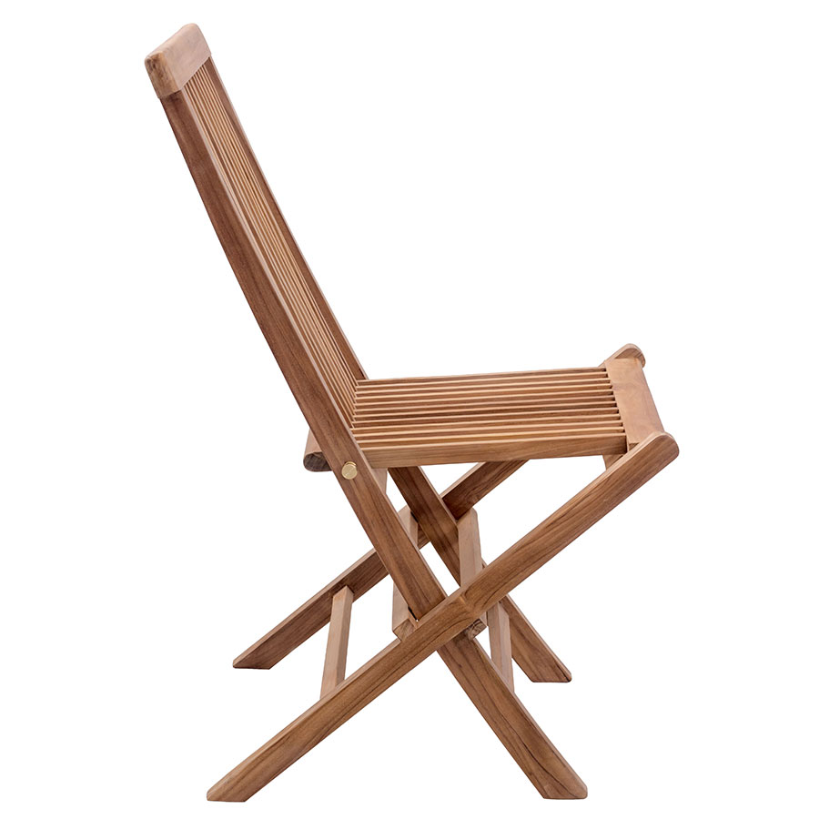 Reilly Contemporary Folding Teak Side Chair