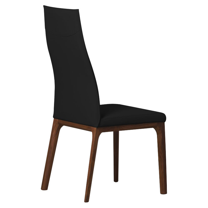 Remy Black Contemporary Dining Chair Black