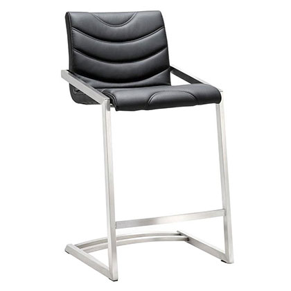 Renee Black Modern European Commercial Grade Counter Stool