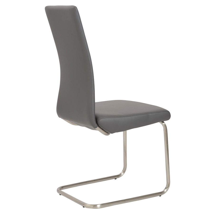 Rhea Gray Leatherette Contemporary Side Chair