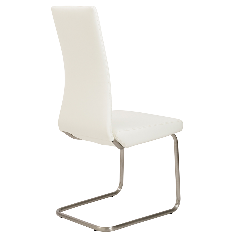 Rhea White Contemporary Dining Chair