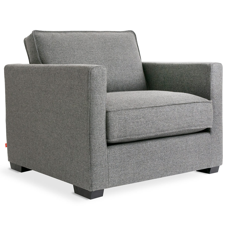 Richmond Contemporary Lounge Chair in Varsity Charcoal