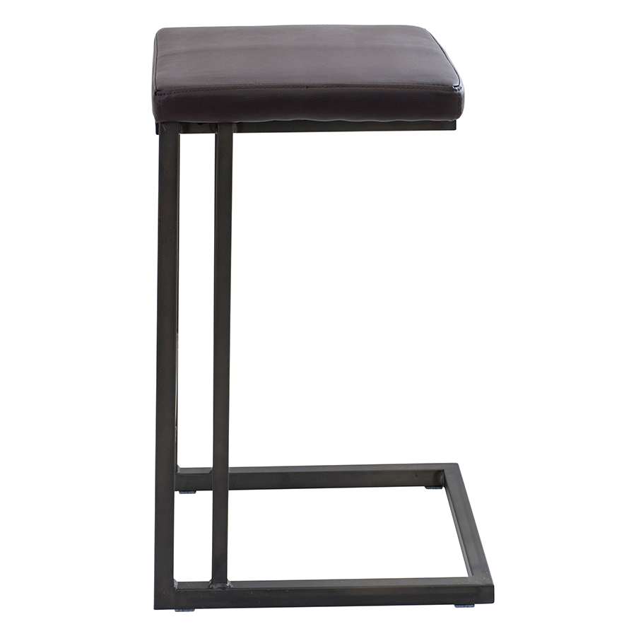 Ridley Metal + Leatherette  Modern Counter Stool