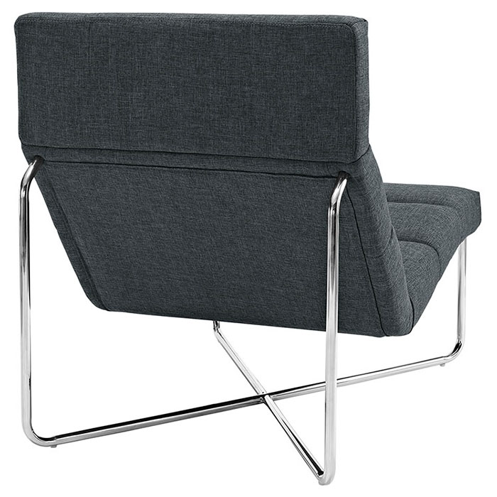 Roanoke Modern Gray Lounge Chair - Back View