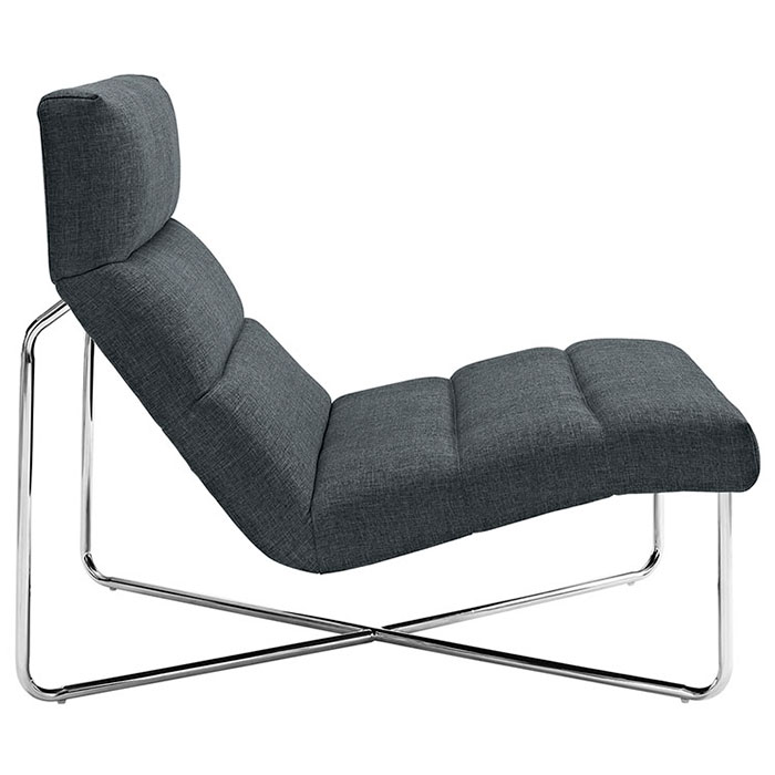 Roanoke Modern Gray Lounge Chair - Side View