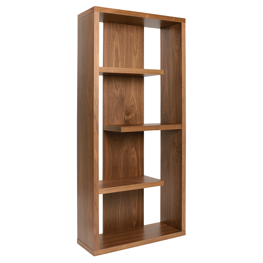 Modern Shelves Robyn Walnut Shelving Unit Eurway