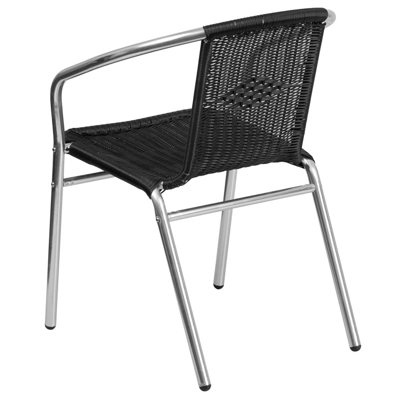 Rome Contemporary Black Rattan Dining Chair