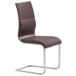 Rosette Dining Chair Brown