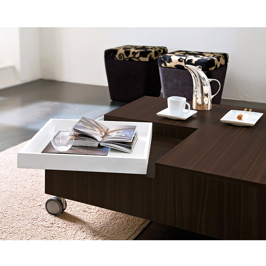 Roy Coffee Table in Wenge - Tray