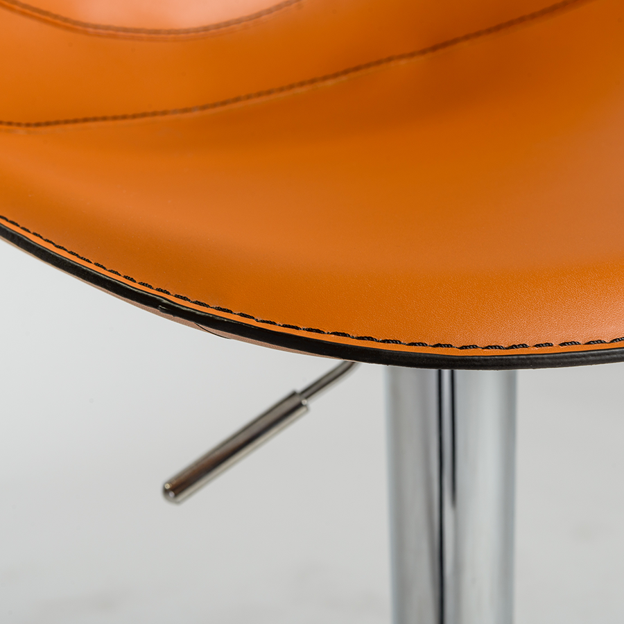 Rudy Cognac Leather Contemporary Stool Detail