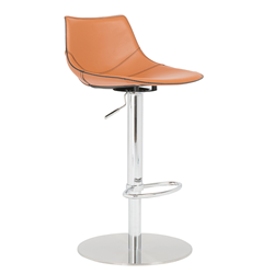 Rudy Cognac Modern Adjustable Stool
