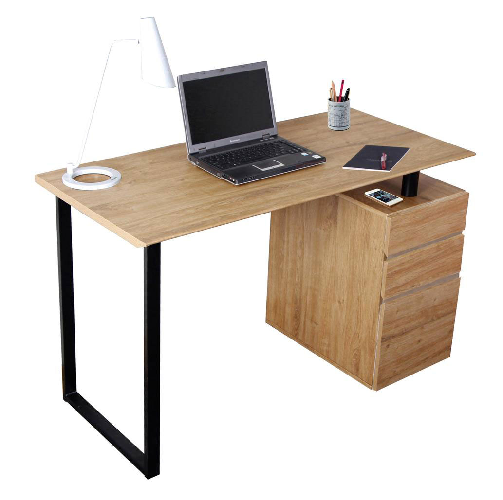 Rutherford Contemporary Desk with File