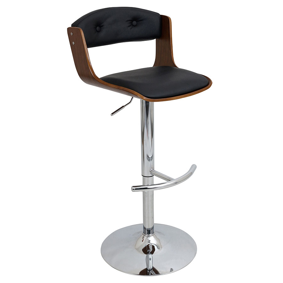 Sabina Black Modern Adjustable Stool