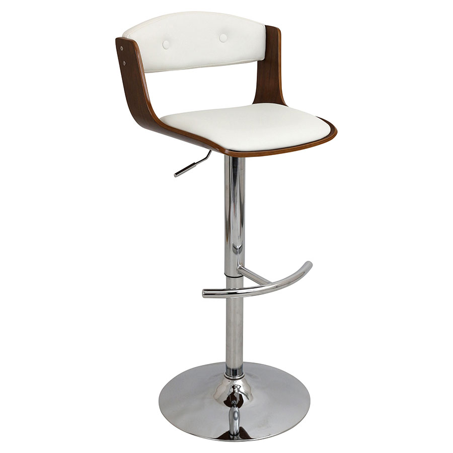 Sabina White Modern Adjustable Stool