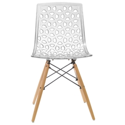 Sabine Modern Clear Dining Chair