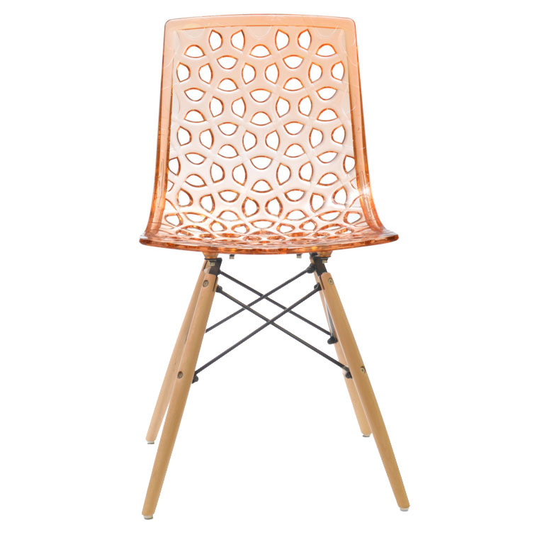 Sabine Modern Orange Dining Chair