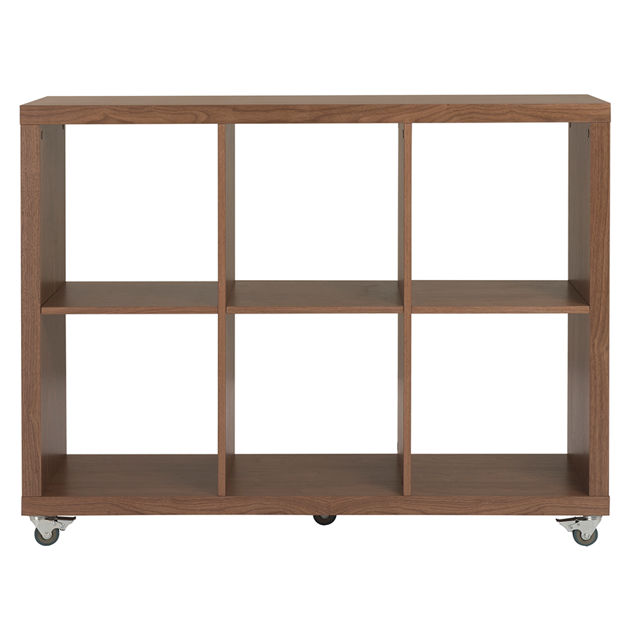 Sabra 6 Cube Contemporary Rolling Shelves