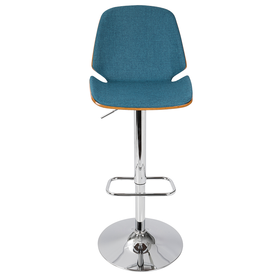 Safiya Blue Contemporary Adjustable Stool