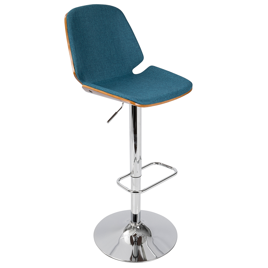 Safiya Blue Modern Adjustable Stool