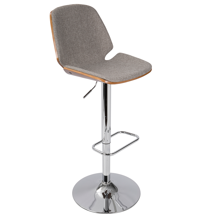 Safiya Gray Modern Adjustable Stool