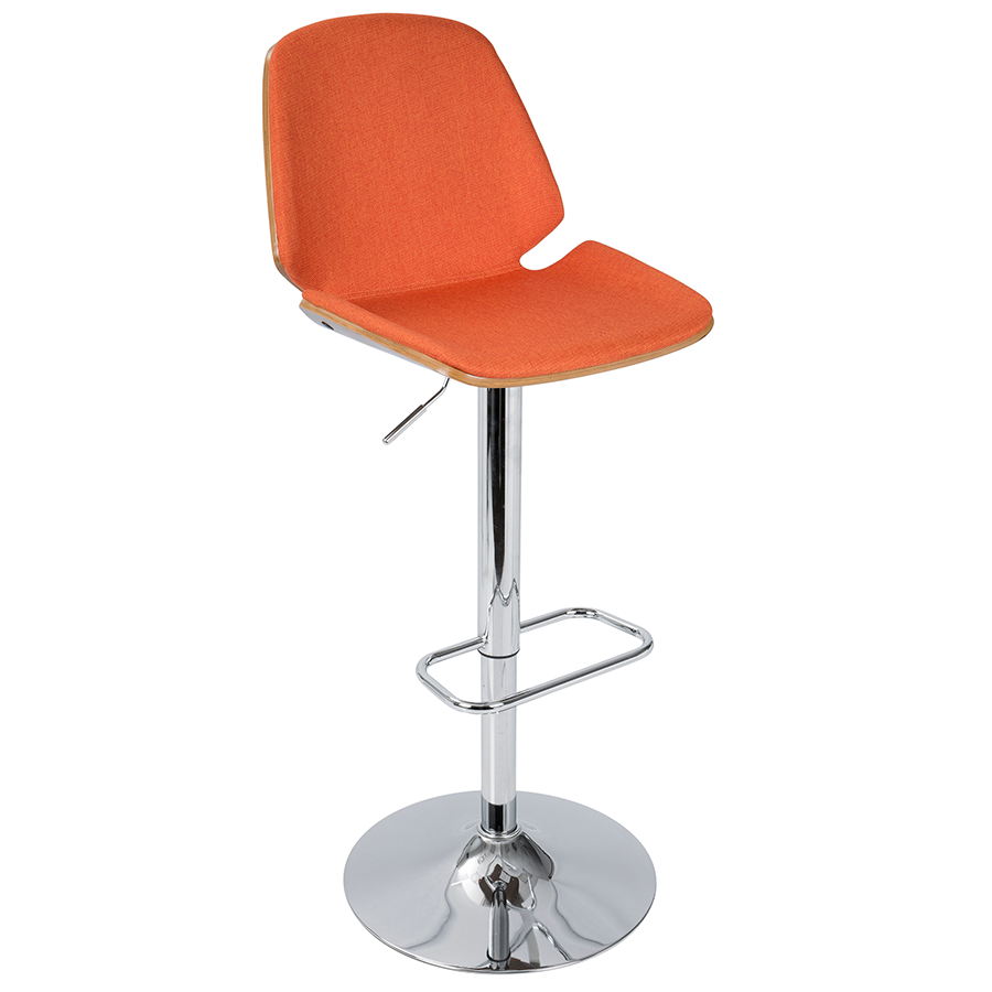 Safiya Orange Modern Adjustable Stool