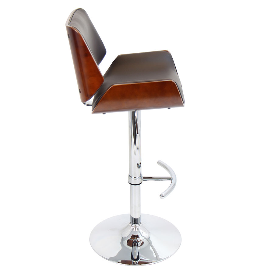 Saga Brown Adjustable Contemporary Bar Stool