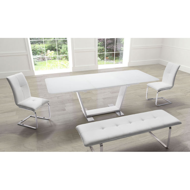 Sagan Contemporary Extension Dining Table