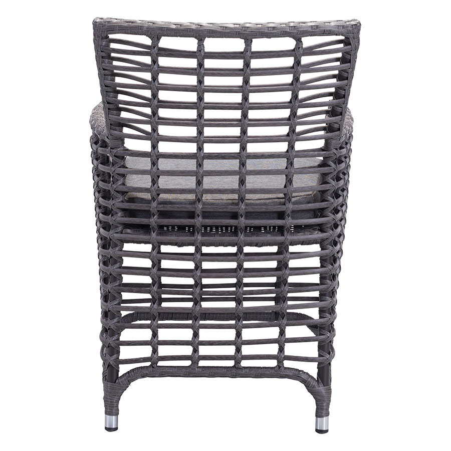 Samir Gray Open Weave Contemporary Outdoor Arm Chair