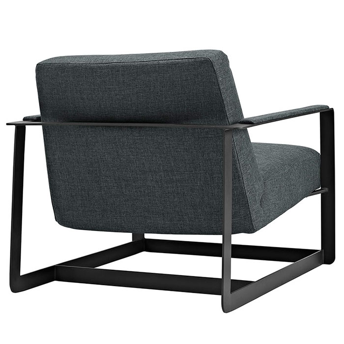 San Diego Modern Gray Lounge Chair - Back View