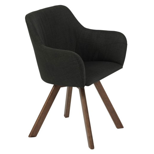 Sanders Modern Dark Gray Arm Chair