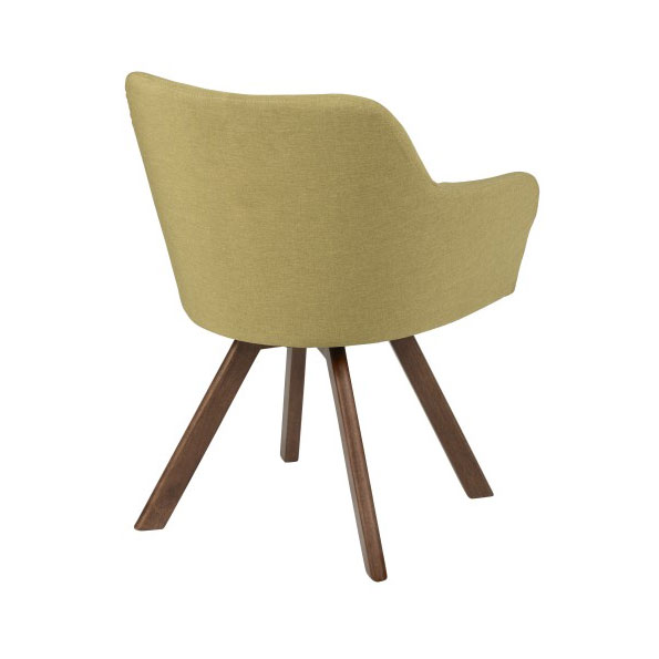 Sanders Modern Green Arm Chair - Back View