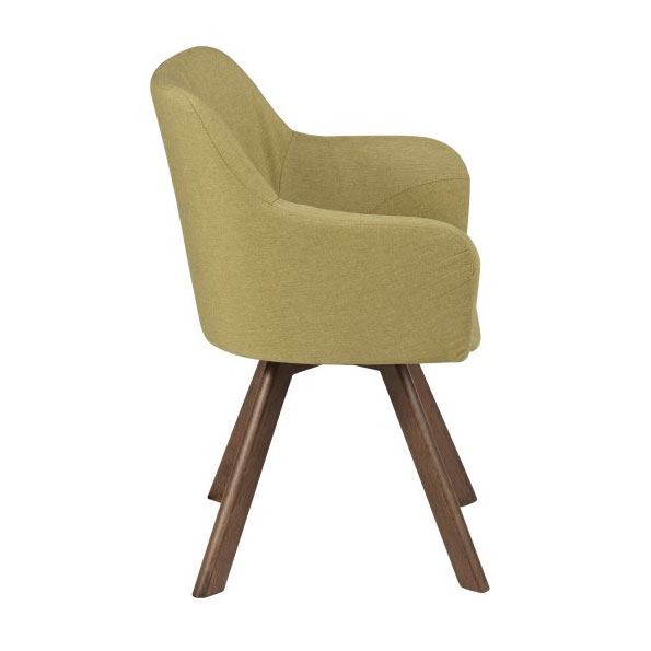 Sanders Modern Green Arm Chair - Side View