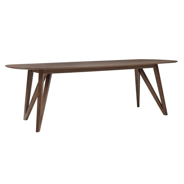 Sanders Modern Walnut Dining Table