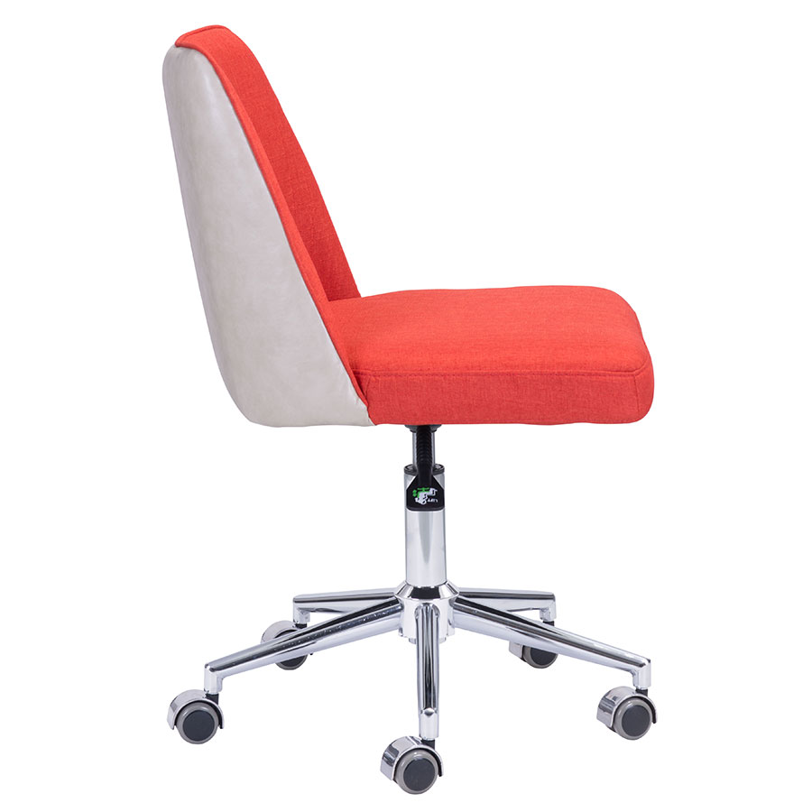 Sandrine Orange Modern Task Chair