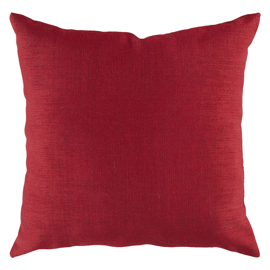 "Sanela 22"" Red Modern Pillow"