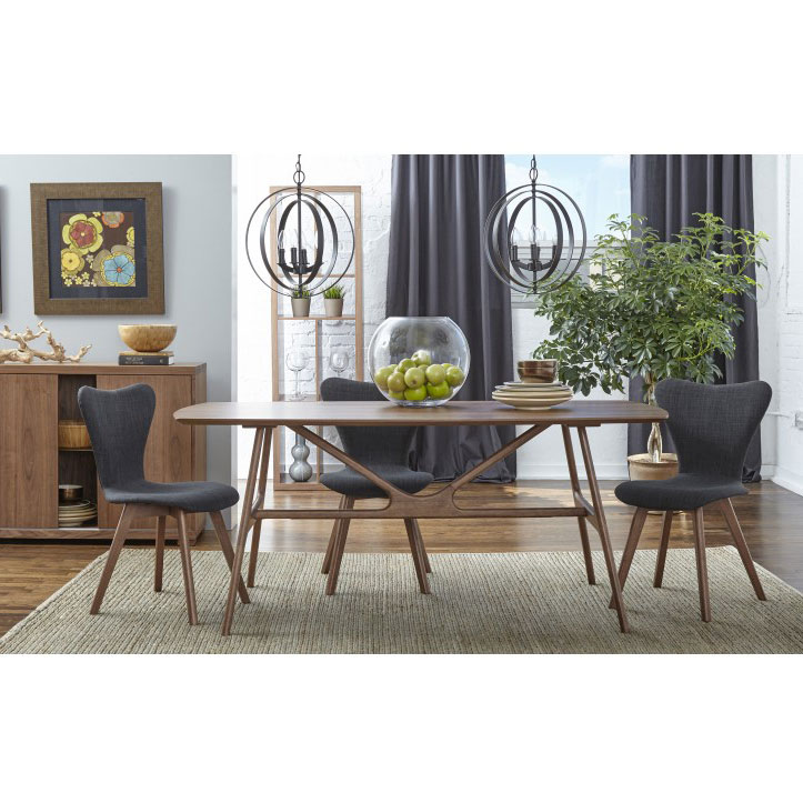 Sanne Dining Chairs with Dark Gray Fabric