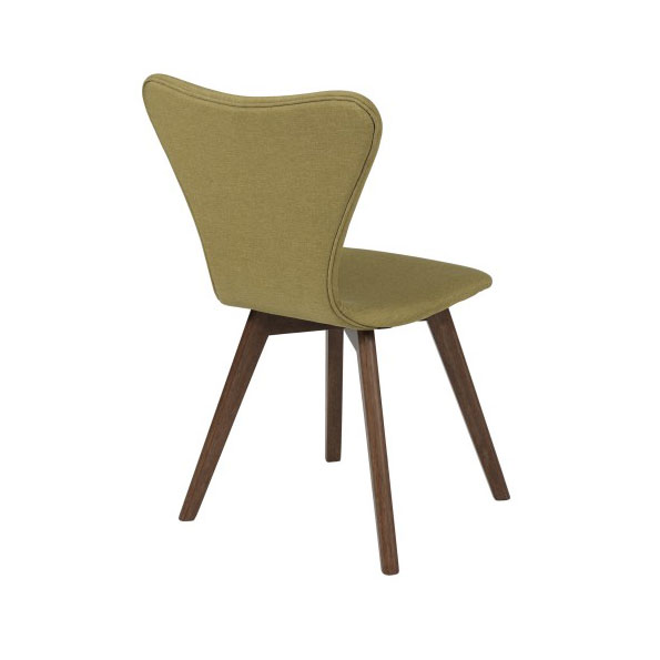 Sanne Modern Green Dining Chair - Back View