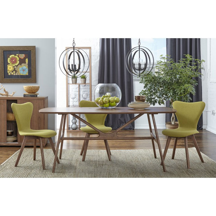 Sanne Dining Chairs with Green Fabric