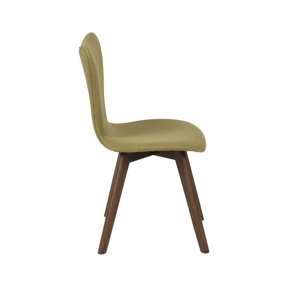 Sanne Modern Green Dining Chair - Side View