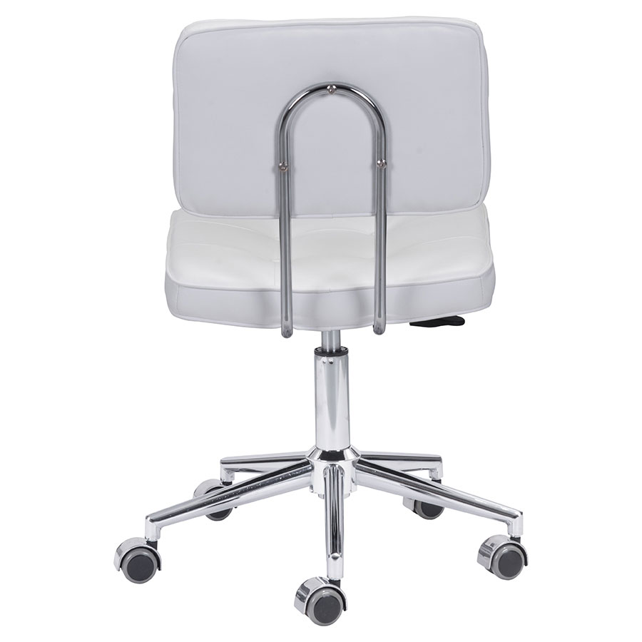 Santeri White Leatherette Contemporary Office Chair