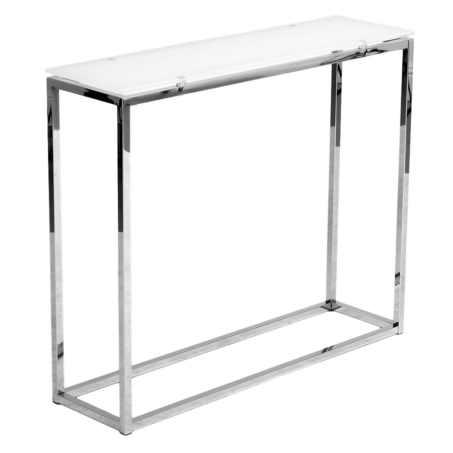 Sara Modern Console Table with Pure White Glass