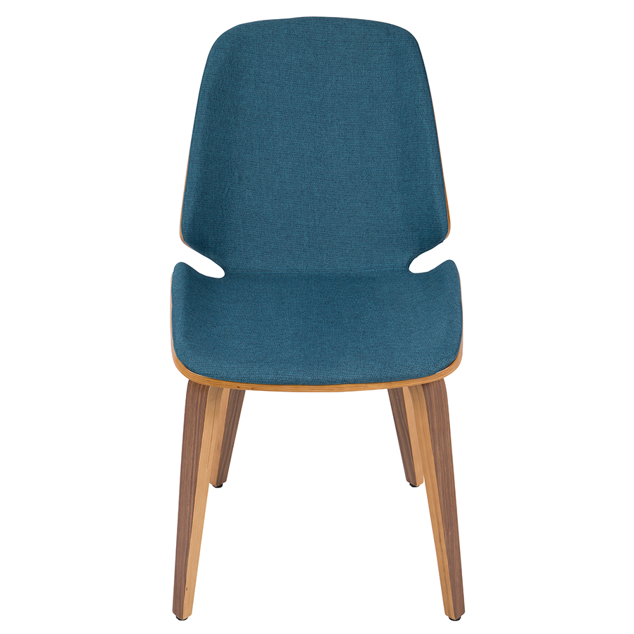 Satchel Blue Contemporary Side Chair